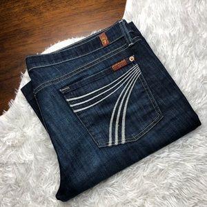 7FAM Dojo Flare Wide Leg Jeans 32x31